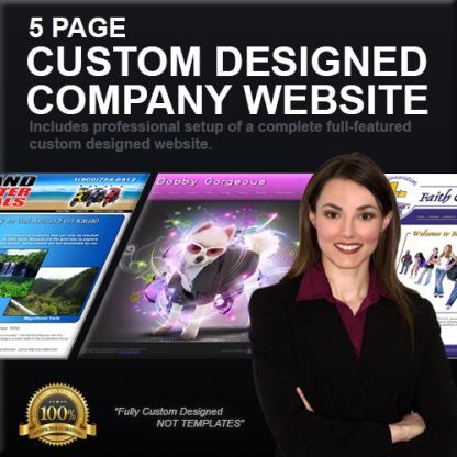 5 Page Custom Designed Company Website