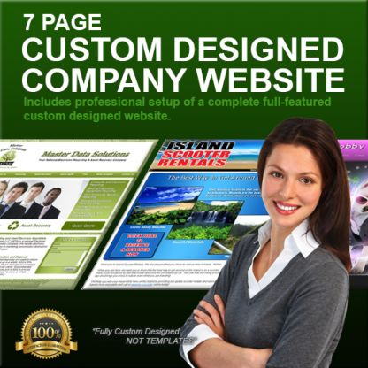 7 Page Custom Designed Company Website