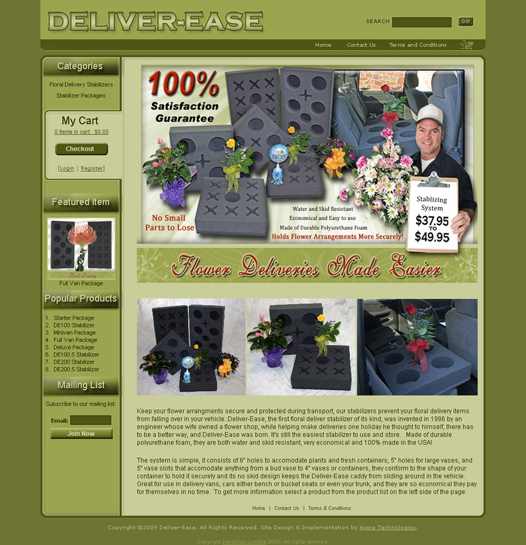 Floral Delivery Equipment